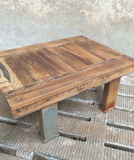 industriële salontafel eiken 52 x 70 cm (1)