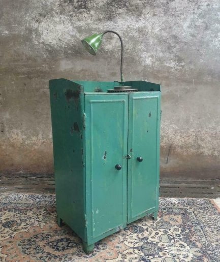 Industrial cupboard drawer cabinet sea green sideboard