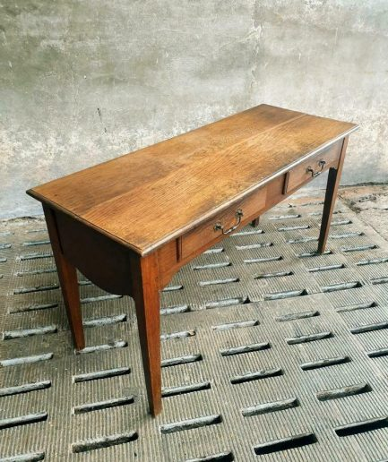 Antique table flap table oak side table with drawers