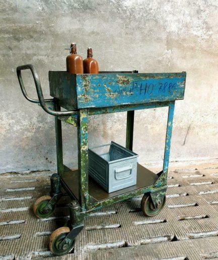 Industriële trolley tuintafel BBQ meubel (1)