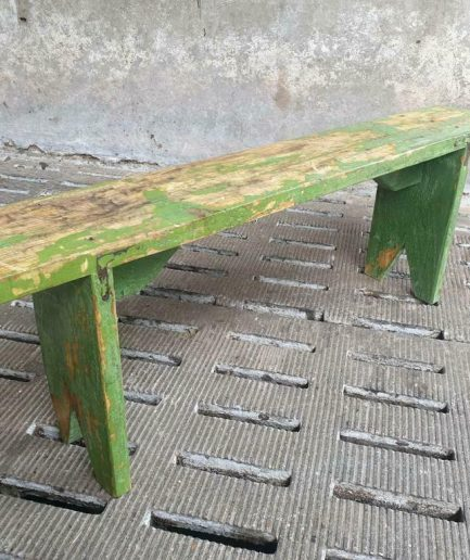 Old wooden bench green side table 140 cm