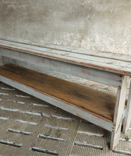 Old side table French TV furniture 40 x 200 cm