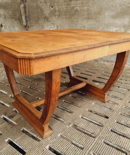 Antieke tafel Art Deco eiken eettafel (1)