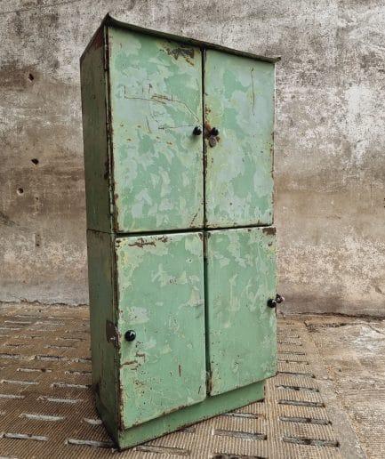 Industriële kast lockerkast groen staal (1)