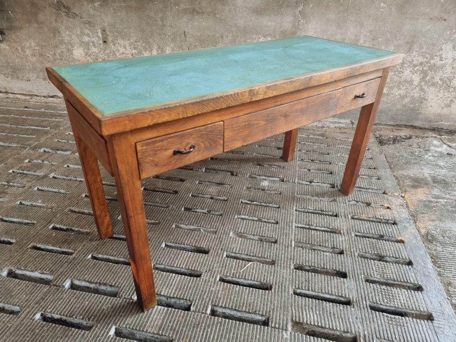 Oude werkbank werktafel beuken (1)